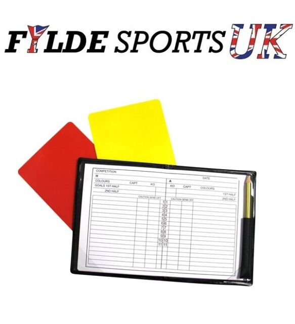 Referee Note Pad Refs Pad Yellow Red Card and Notebook Set - Precision Training