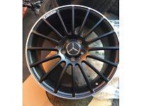 "Mercedes c63 style A class B class cla c220 amg alloy wheels 5112 fits vag 18"" brand new alloys"