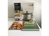 Unopened slow cooker with two slow cooking books