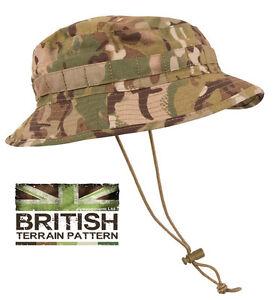 US & British Army Military Jungle Boonie Sun Bush Hat Cap Surplus Combat Camo