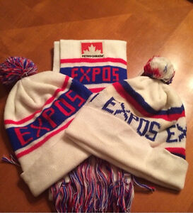 Expos hats and scarf