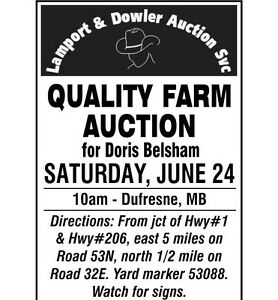 Quality Farm Auction For Doris Belsham