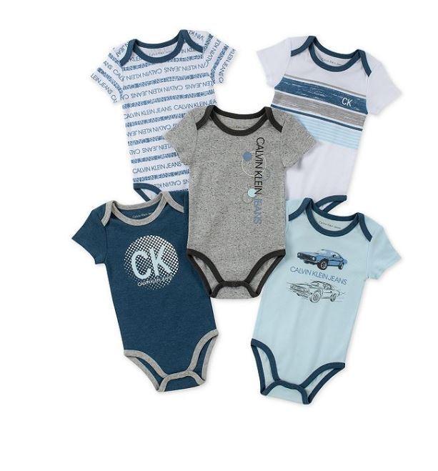 NWT Calvin Klein Baby boy  Bodysuit 0-9 months