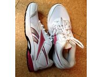 Reebok Pink and White Trainers UK 3.5-4