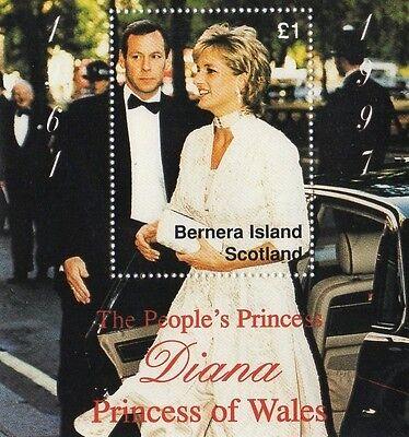 THE PEOPLE'S PRINCESS DIANA PRINCESS OF WALES BERNERA ISLAND SCOTLAND MNH STAMP