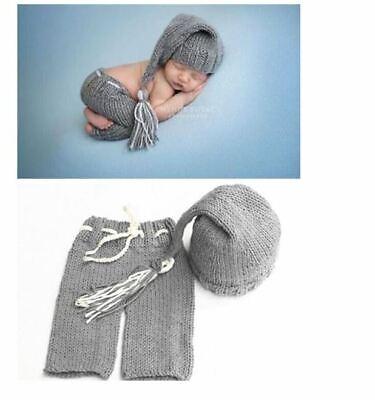 Strick Mütze Kostüm Häkelkostüm Neugeborenen Set Fotoshooting Babyfotografie - Häkeln Kostüm