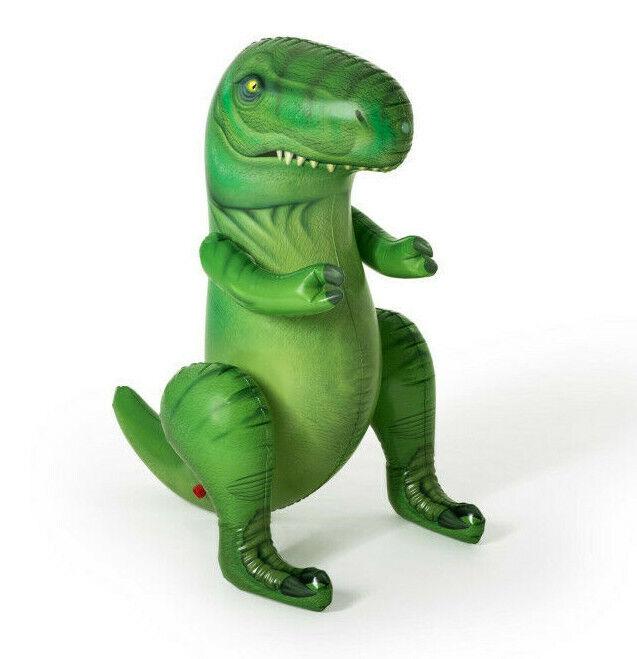Bestway Wassersprinkler Dino in grün 122 cm Garten Wasserspielzeug für Kinder