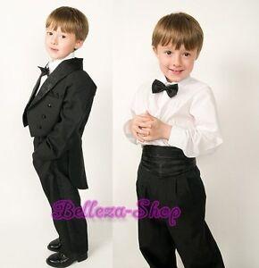 5pcs-Set-Boys-Black-Formal-Tuxedo-TUX-Suit-Wedding-Pageant-Toddler-Size-3-ST001A