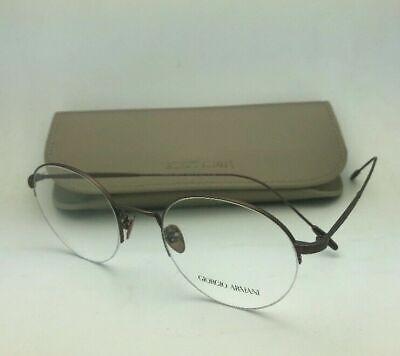New GIORGIO ARMANI Eyeglasses AR 5079 3006 50-21 Round Semi Rimless Brown (Semi Round Eyeglass Frames)
