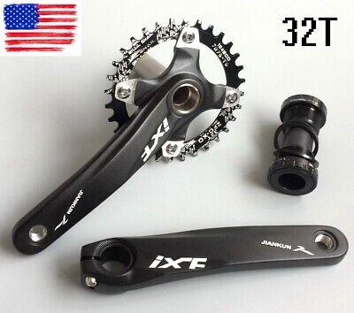 IXF Aluminum MTB Road XC Bike Crankset crank arm 170mm BCD104 Bottom Bracket