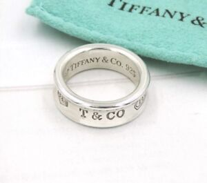Authentique Tiffany &Co 1837 ring , bague size 6/6.5