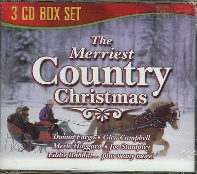 THE MERRIEST COUNTRY CHRISTMAS -  3 CD Box Set - NEW - SEALED -  FREE SHIPPING!!