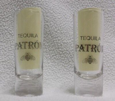 (Patron Tequila tall shot glasses- Set of 2)