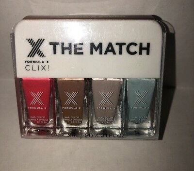 Sephora Formula X CLIX! Medium To Deep Skin Tones Set of Four Polish New  ()