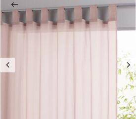 Blush pink voiles