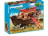 New playmobil ark, boat, animals