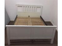 *NEED GONE OFFERS IKEA Hemnes European Size Double solid Wood Bed frame 140x200cm, Sultan Lien Slats