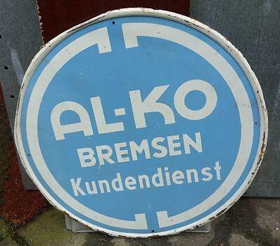 altes Blechschild Al-Ko Bremsen Kundendienst