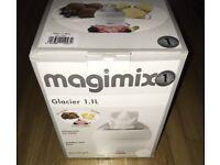 New Magimix Glacier 1.1 litre Ice Cream, Sorbet and Frozen Yoghurt Maker, White