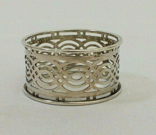 Antique 1905 Sterling Silver Decorative Filigree Napkin Ring