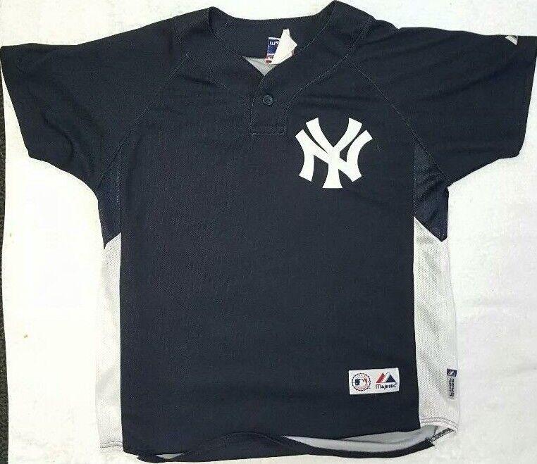 156b66bd3 DEREK JETER Majestic Cool Base MLB New York Yankees Jersey  2 Youth Large  NICE!