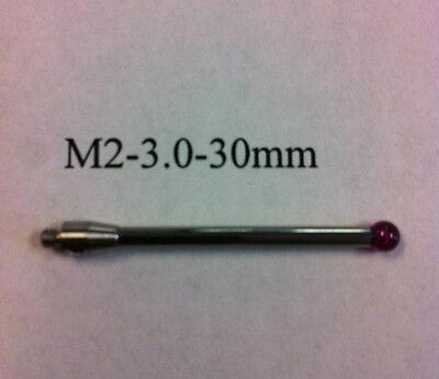 M2 Cmm Stylus Styli  3.0mm Ruby Ball 30mm Length A-5003-0040