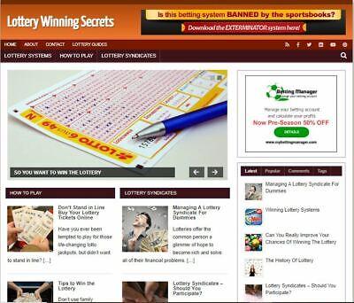 Lottery Winning Blog - Established Profitable Turnkey Wordpress Website For Sale