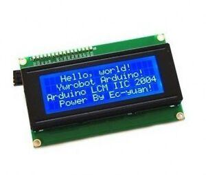 Serial-IIC-I2C-TWI-2004-204-20X4-Character-LCD-Module-Display-For-Arduino-Blue