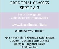 FREE TRIAL Dance CLASSES TONIGHT (SEPT 2ND)!