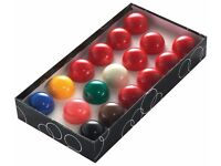 POWERGLIDE 44MM SNOOKER BALLS 17 PEICE SET VERY GOOD CONDITION BARGAIN AT £15