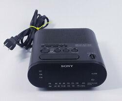 Sony Dream Machine ICF-C218 Auto Time Set Dual Alarm AM/FM Clock Radio Works!