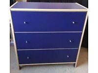 IKEA ROBIN 3 Drawer Blue