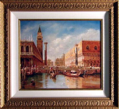 "Antal Goldfinger ""venezia"" Giclee On Canvas With Custom Frame Hand Signed"