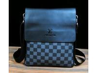 LV small grey bag.