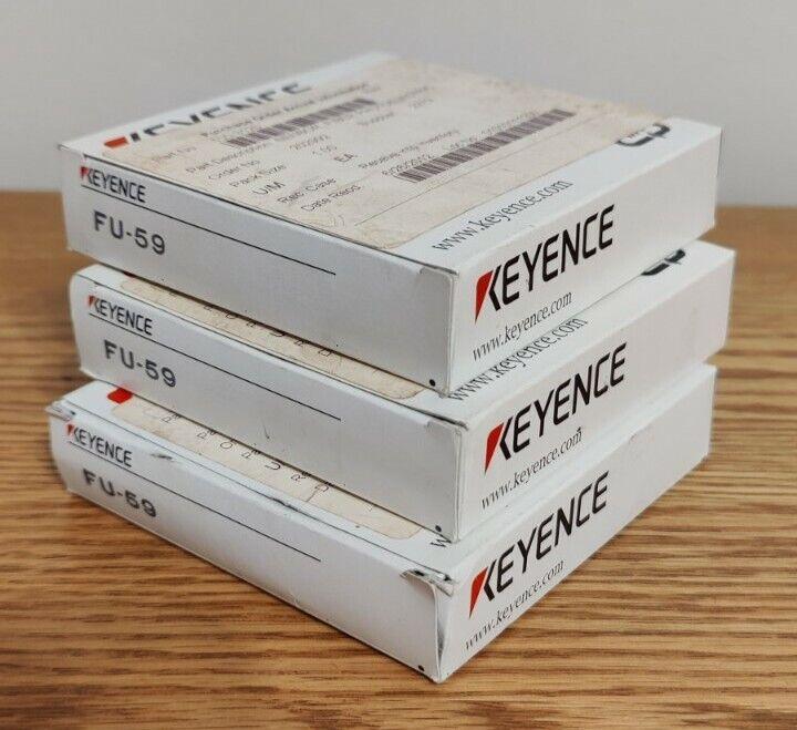 Lot of 3 - KEYENCE FU-59 Fiber Optic Sensor *NEW IN BOX*