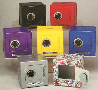 Kids Metal Safe Bank Piggy Bank Cash Box With Combination Lock   Colors May Vary