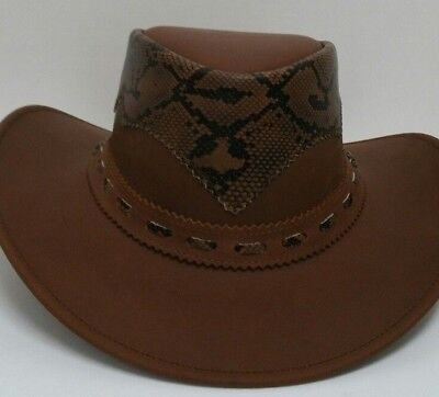 c1893a24a NEW NUBIC LEATHER Outback Western Cowboy Hat Brown ST2001
