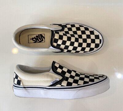 Vans Checkerboard slip on Size 4