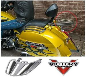 NEW VICTORY MOTORCYCLE LUGGAGE RACK Chrome Luggage Rack for Passenger Backrest - AUTO PARTS 105365692