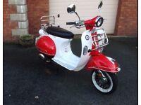 ajs modena 50cc retro scooter with hundreds of £££££'s worth of extras