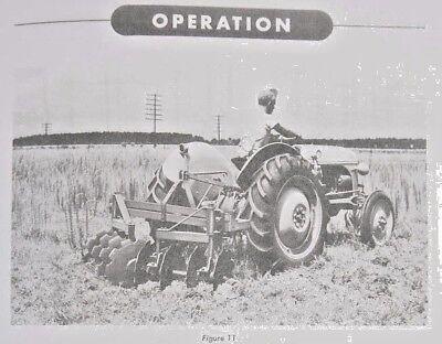 Ford Dearborn Reverisble Bush Bog Disc Harrow 3pt Hitch Owners Manual 8n 2n 9n