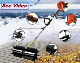 Rotating Sweeper Brush snow blower power road pressure washer lawn leaf vacuum vac suction astro