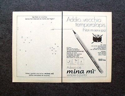 K670-Advertising Pubblicità-1974- MINA MI , SEMPRE A PUNTA (Punta Mi)