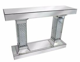 FLOATING CRYSTAL CONSOLE TABLE BRAND NEW AND BOXED
