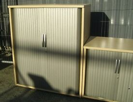 WOODEN ROLLER SHUTTER CABINET FILING CABINET 37.5 INCH X 47 INH 10 AVAILABLE