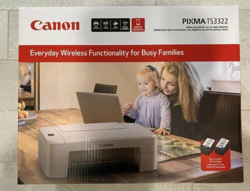 Brand New Canon TS3322 Wireless All In One Printer - FREE +