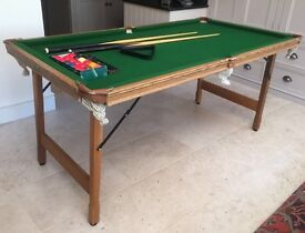 6ft Billiards table with , accessories