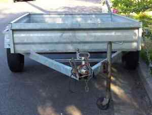 galvanised box trailer 2100 x 1500mm 6mnth rego, spare and jockey Seven Hills Blacktown Area Preview