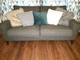 *OFFERS* 2 x Grey Sofas - CAN SELL SEPERATLEY