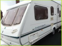 5 Berth Swift Abbey Luxury Touring Caravan Fixed bed Option Ace Sterling Group.